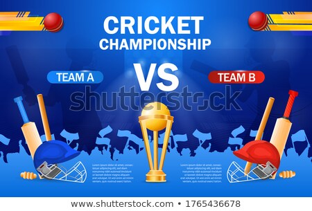 Cricket championship - cricket helmet, bat and gold cup, contest Stock photo © Winner