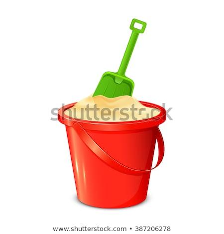 Bucket and Shovel in Sandbox, Green Nature Vector Stock photo © robuart