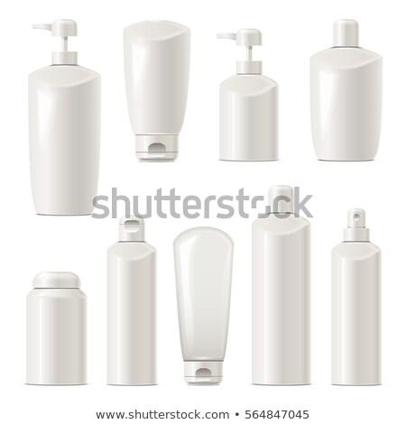 creme · recipiente · vetor · conjunto · plástico · jarra - foto stock © dashadima