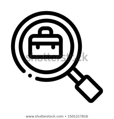 Сток-фото: чемодан · стекла · Поиск · работы · вектора · икона