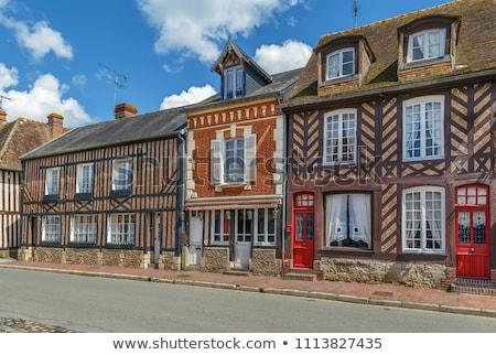 Straat Frankrijk historisch huizen huis gebouw Stockfoto © borisb17