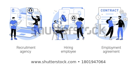 Stockfoto: Vacant · baan · vector · metafoor · mensen