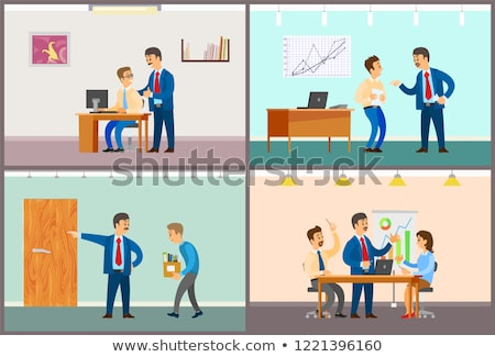 Good and Bad Job at Office, Rebuke or Approval Stock photo © robuart