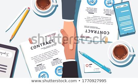 Consulting · face · deux · orange · cartoon - photo stock © kzenon