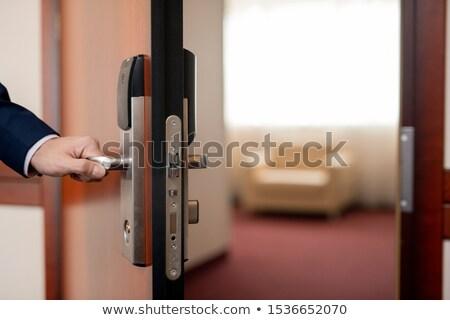 ルーム · オープンドア · 市 · 現代 · 想像力 · 夢 - ストックフォト © pressmaster