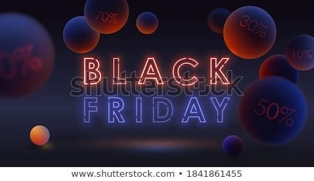 black friday blue and red neon background stock photo © sarts