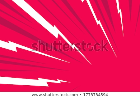 Thunder flat color illustration Stock photo © barsrsind