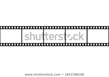 Filmstrip Roll For Video Camera Monochrome Vector Stock photo © pikepicture