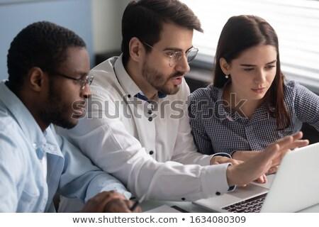 сотрудник подготовки преподавания новых рабочие женщины Сток-фото © robuart