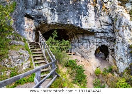 Caverna montanhas sibéria Rússia textura Foto stock © olira