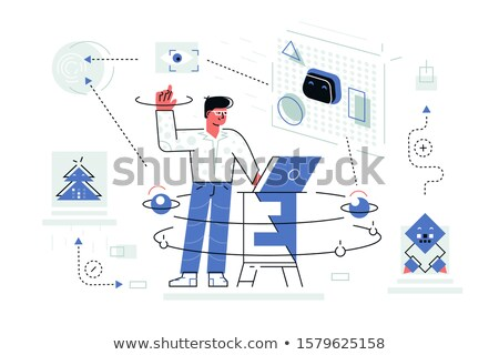 Newest technologies of artificial intelligence Stock photo © jossdiim