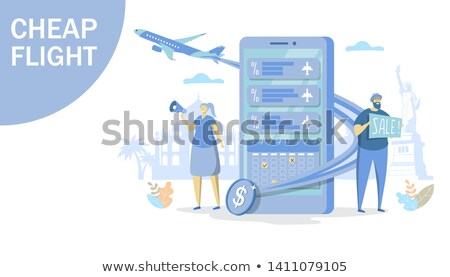 Flight Booking Creative Advertising Banner Vector Stock photo © pikepicture
