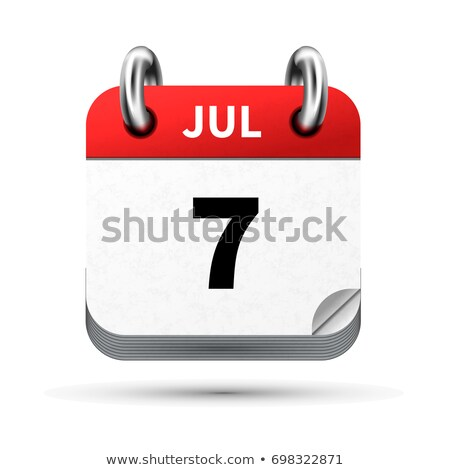 Bright realistic icon of calendar with 7 july date isolated on white Stock photo © evgeny89