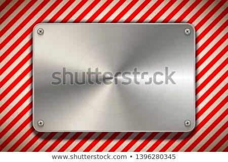 Rood witte gepolijst metaal Stockfoto © evgeny89