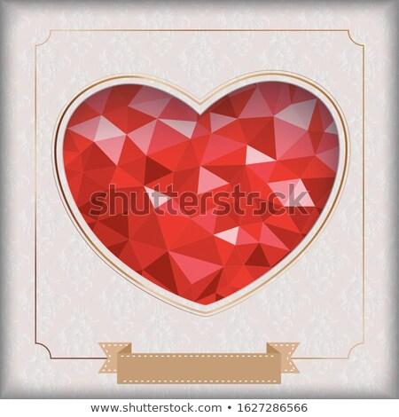Bajo corazón agujero noble clásico adornos Foto stock © limbi007