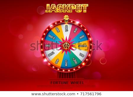 Lotteria fortuna ruota design macchina grafica Foto d'archivio © SArts
