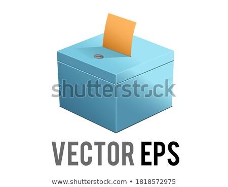 Cast Vote isometric icon vector illustration Stock photo © pikepicture