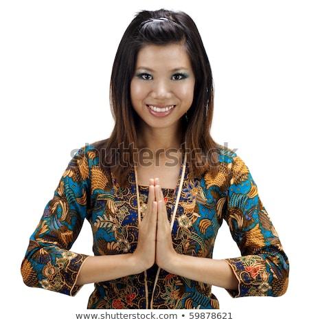 Thai Woman In Traditional Greeting Gesture Zdjęcia stock © szefei