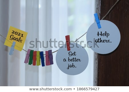 Goals, Colorful words hang on rope stock photo © Ansonstock