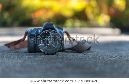 törött · kameralencse · szomorú · lencse · elveszett · törik - stock fotó © pinkblue