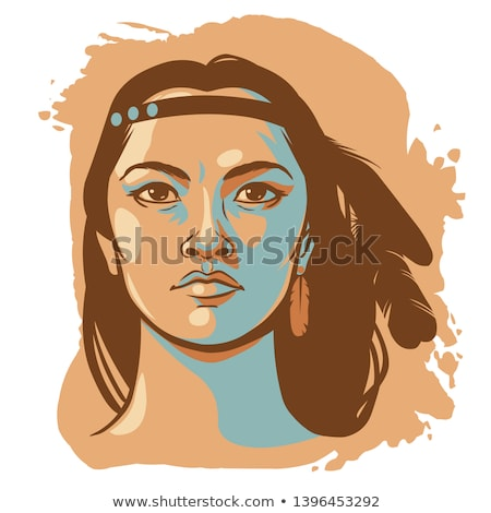 Young native american woman Stock photo © elenaphoto