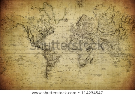 world map on old stained canvas paper Stock photo © latent