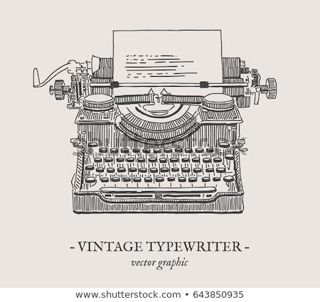 Vintage 1950 maszyny do pisania biały przenośny Zdjęcia stock © Balefire9