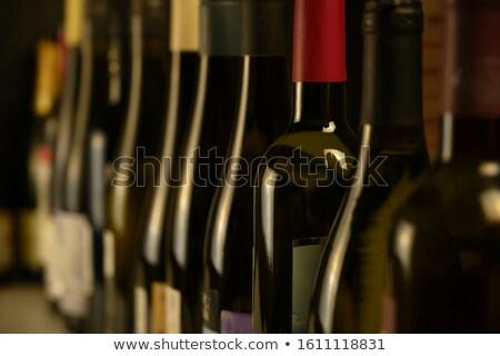 champagne · fles · nek · macro · witte · glas - stockfoto © karandaev