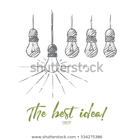 Word idea drawn pencil. Stock photo © borysshevchuk