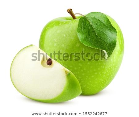 verde · maçã · isolado · branco · estúdio - foto stock © boroda