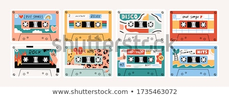 vector · audio · cassette · tape · witte · technologie - stockfoto © mechanik