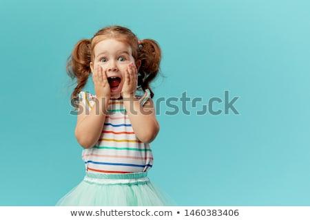 Zdziwiony dziecko portret ilustracja cute Zdjęcia stock © Kakigori