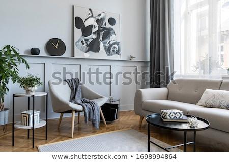 Contemporâneo interior apartamento luxo design de interiores madeira Foto stock © annakazimir