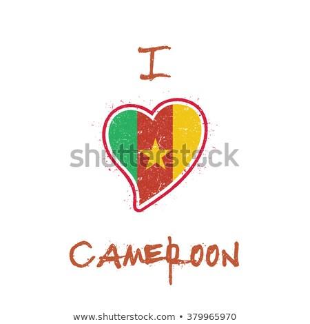 mapa · Camerún · político · regiones · resumen - foto stock © perysty
