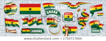 Image of heart with flag of Ghana Stock photo © perysty