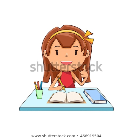 young woman and little girl doing homework stock photo © photography33