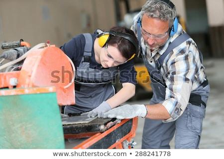 Jovem adolescente aprendiz casa construção indústria Foto stock © photography33