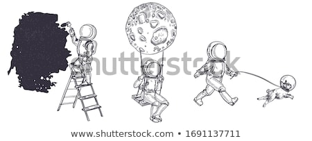 Painter resting on a stepladder Stock photo © photography33