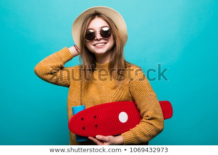beautiful casual girl posing confidently stock photo © stockyimages
