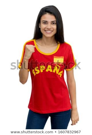 Spaans volleybal team geïsoleerd sport Stockfoto © bosphorus