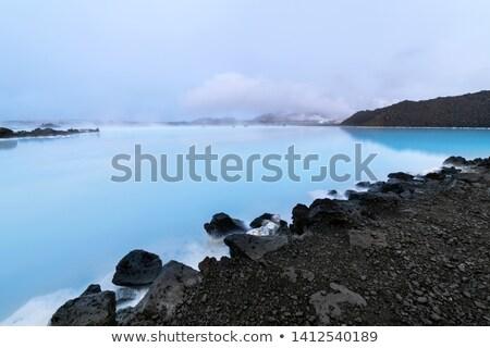 Coast of Blue Lagoon Lake - Iceland. Stock photo © tomasz_parys