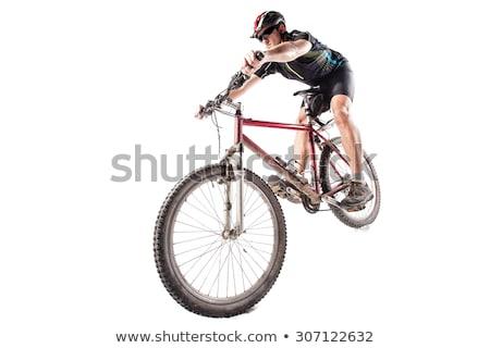 Mountain biker in studio Stock photo © ivonnewierink