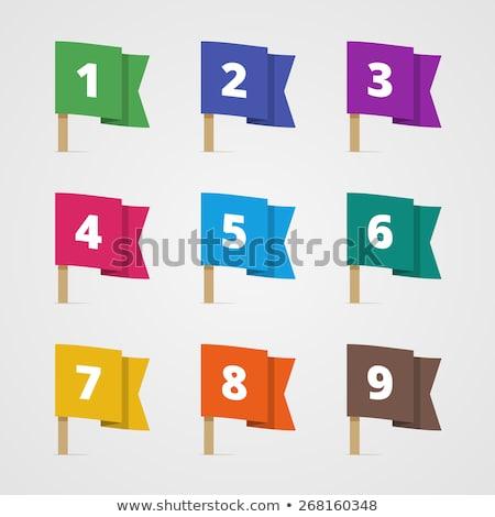 カラフル ブックマーク 番号 5 異なる 色 ストックフォト © liliwhite