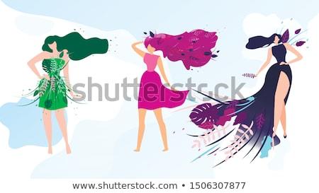 Schoonheid vers portret aantrekkelijk mooie jonge vrouw Stockfoto © dash