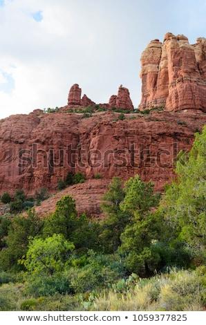 snoopy rock butte orange red rock canyon sedona arizona stock photo © billperry