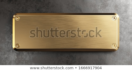 blank plaque Stock photo © olivier_le_moal