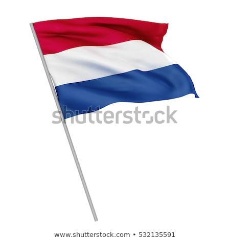 Fabric texture of the flag of Holland Stock photo © maxmitzu