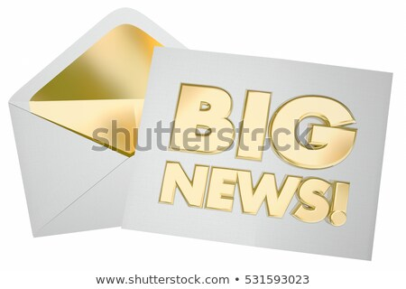 Huge Announcement Stock photo © Lightsource