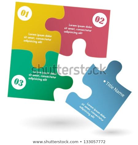 Számok kirakós játék ép puzzle játék árnyék Stock fotó © trgowanlock