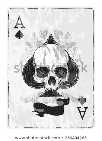 casino poker spades card with skulls stock photo © carodi